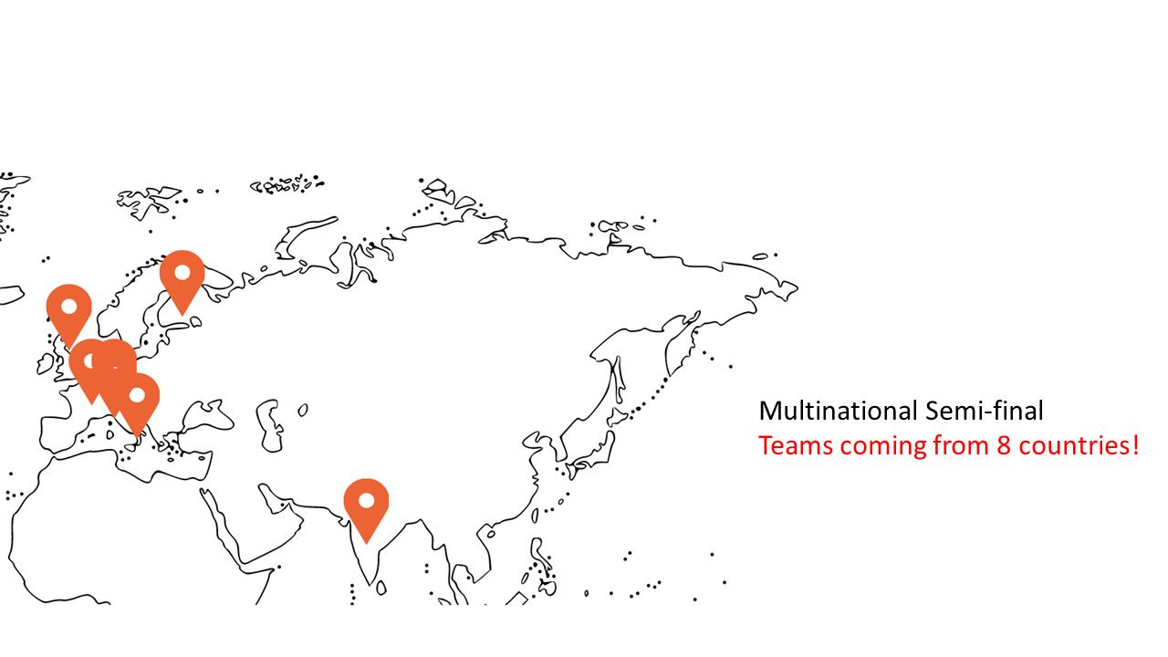 Semi-finalists map